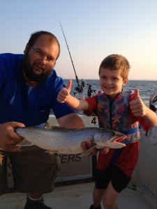 August 21 ,2013 David with his first Lake Trout