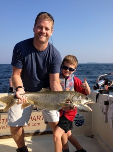 August 21 ,2013 Brad and David with ther 15 lb. Lake Trout