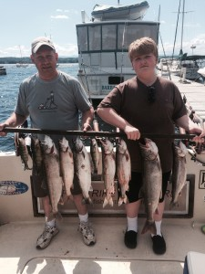 July 09 , 2014 Lake Trout , Salmon