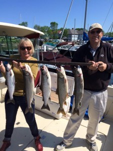 June 13 , 2015 Salmon and Lake Trout