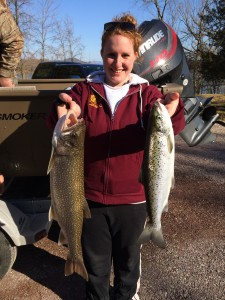March 27 , 2016 Lake Trout and Salmon