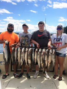 August 7 , 2016 Salmon and Lake Trout