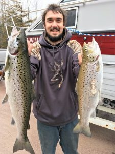April 7 , 2016 Salmon and Brown Trout