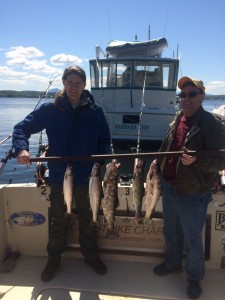 May 23 , 2015 Salmon and Lake Trout